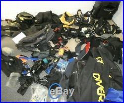 SCUBA DIVING GEAR EQUIPMENT BUNDLE Drysuit Wetsuits regulator vests