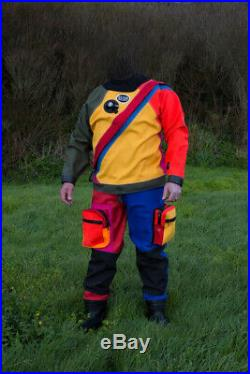 SCUBA diving otter britannic drysuit- one off custom made High visibility