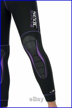 SEAC Men's Alfa 7.0 7 mm Suit for Scuba Diving XL Black