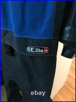 Santi Elite Plus Drysuit Scuba Diving Sitech Seals perfect Condition