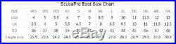 ScubaPro Heavy Duty Scuba Drysuit Dive Boot Heavy Duty Ultra Grip Sole Booties