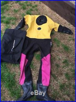 Scuba Diving Aqua-Tek Dry Suit X480 Uk Large 9 Shoe