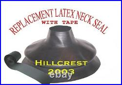Scuba Diving Dry Suit Large Bellows Neck Seal & Bottle Wrist Seal With Tape
