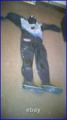 Scuba Diving Dry Suit Mint condition, Northern Diver, Mens Medium, Boot size 7
