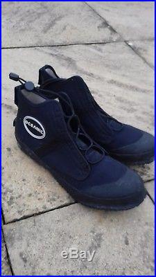 Scuba Diving Dry Suit Rock Boots and Bag Oceanic
