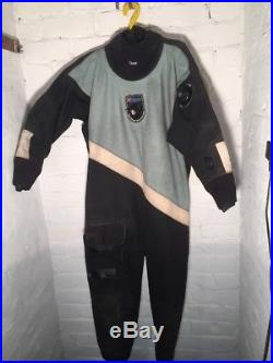 Scuba Diving Drysuit Northern Diver Large With Size 9 Boots