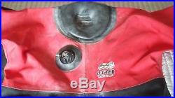 Scuba Diving Drysuit & Wooly Bear Red & Black Oterms Watersports Excellent cond