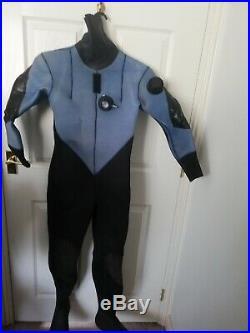 Scuba Diving Neoprene Dry Suit (blue)