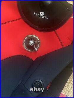 Scuba Diving Neoprene Drysuit, Typhoon Seamaster, Medium Mens Dry Suit, Size 9
