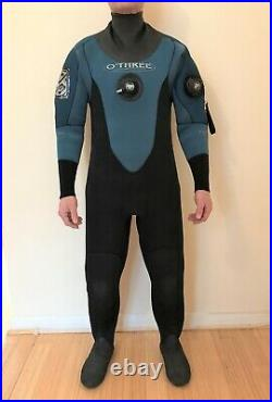 Scuba Diving O'Three 5mm Neoprene Dry Suit, Good Condition, Little Use size Small