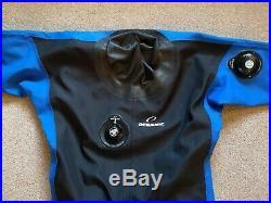 Scuba Diving Oceanic HD400 Trilaminate Dry Suit / Drysuit (Size Large)