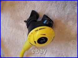 Scuba Diving regulators set TUSA R100, 1st and 2nd stage and BCD & drysuit hoses