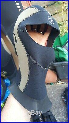 Scuba Drysuit Mares Avanti Fins Rock Boots Dive hood