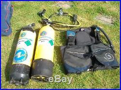 Scuba Gear Job Lot-Dry Suit/Flippers/Wet Suits/Air Tank Cylinder/Snorkel/Harness