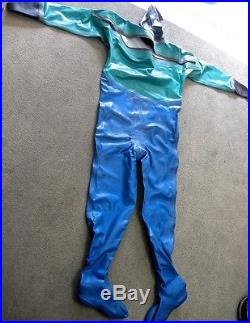 Scuba Viking Dry Suit #3 Size Blue and Green Fair Condition, Needs Seals
