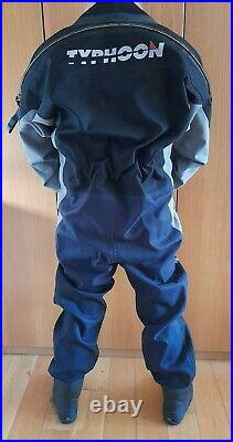 Scuba diving Typhoon dry suit size medium, small boot see full description