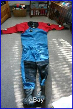Scuba diving dive drysuit dry suit Otter Large Tall hardy used