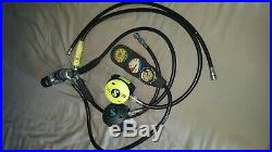 Scuba diving dry suit, BCD and regulator