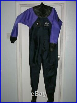 Scuba diving dry suit, (Otter) with undersuit, medium, hardly used
