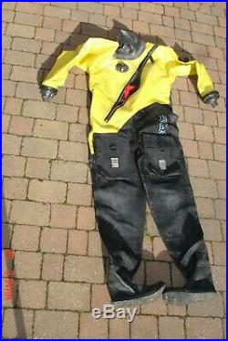 Scuba diving dry suit, (Otter) with weezle undersuit, large, hardly used