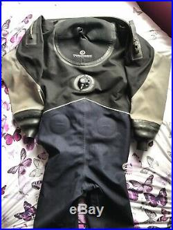 Scuba equipment, ladies typhoon drysuit size Small with size 7 boots