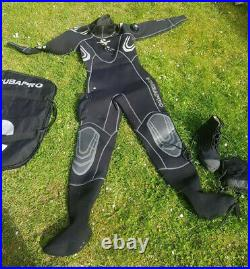 Scubapro Everdry Neoprene Scuba Diving Extra Small Dry Suit with size 5 boots