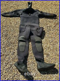 Scubapro Neoprene Scuba Diving Drysuit Men's large with size 11 boots