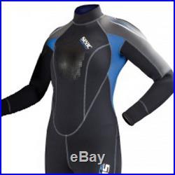 Seac Scuba Diving Wetsuit Woman Sub One-Piece Suit Neoprene Alien 5mm 4UK