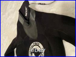 Seac Womens Scuba Diving Warmdry Neoprene Dry Suit Sz XS Zippers Class C Black