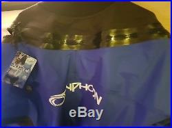 Seaskin black membrane SCUBA dry suit and thermal liner