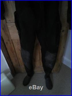 Seaskin black membrane SCUBA dry suit for average sized person