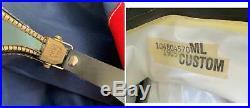 Seatec Dry Suit Vintage M L Neck Wrist Dam Full Feet Scuba Dive Diving Blue