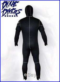 Sopras Sub NEW FREDDO 5mm 2 Piece Hooded Wetsuit SCUBA DIVE DIVING SEMI DRY SUIT
