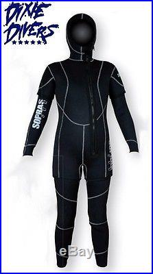 Sopras Sub NEW FREDDO LADY 7mm 2 Piece Hooded Wetsuit SCUBA DIVING SEMI DRY SUIT