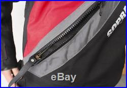 Sopras Sub Trilaminate Red Scuba Diving DrySuit with Front Zipper Sealing