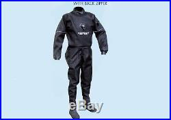 Sopras Sub Trilaminate Scuba Diving DrySuit With Hard Sole Booties Back Zipper