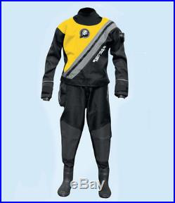 Sopras Sub Trilaminate yellow Scuba Diving DrySuit With Hard Sole Booties