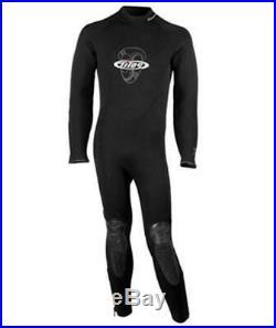 Tilos Men's 5/4mm Titanium Cold Water Semi-Dry Seal Suit for Scuba Diving Size M