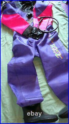 Tusa Ladies Scuba Diving Drysuit, Pink and Purple, Large