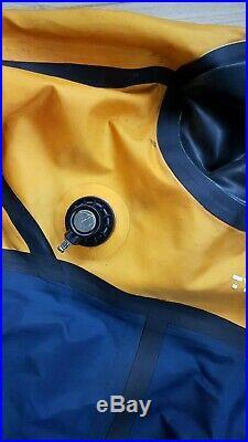 Typhoon Diving Drysuit Medium Apeks Inflator & Dump 9 Boots SCUBA Dive & Snorkel