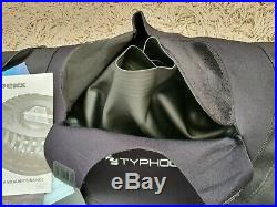 Typhoon Drysuit Discovery Scuba Tri-laminate Mens Size Small with sized 7 boots
