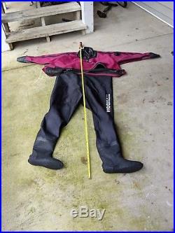Typhoon Ranger Front Entry Scuba Drysuit Seals good. Medium size