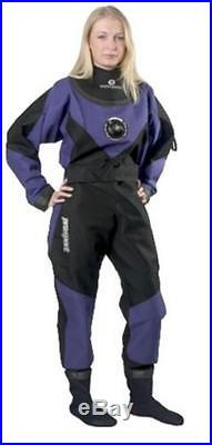 Typhoon Scuba Dive Dry Suit with Rock Boots Womens Medium Large