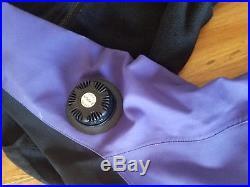 Typhoon Scuba Diving Dry Suit Rock Boots Women LM With Fleece Thermal LOT Purple