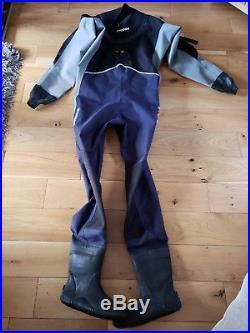 Typhoon Scuba Diving Dry suit, Tri-Laminate, excellent condition, Size LM Boot 8