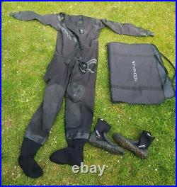 Typhoon Spectre Neoprene Scuba Diving Large Dry Suit with boots front entry