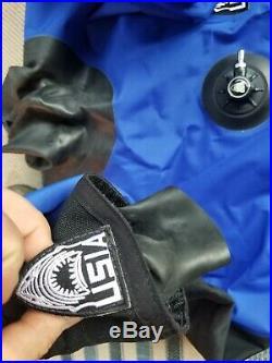 USIA Aqua Drysuit, Scuba Diving Suit With Boots Custom with Fleece liner