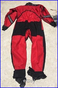 USIA Drysuit and Hoods Mens XL Scuba Dive Fire Department Rescue Diver X-Large