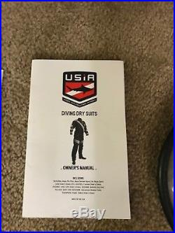 USIA Mens Dry Suit Front Zip With boots, Scuba Diving