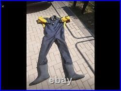 US SUIT Uk Made Drysuit scuba Diving Xxl Trilaminate